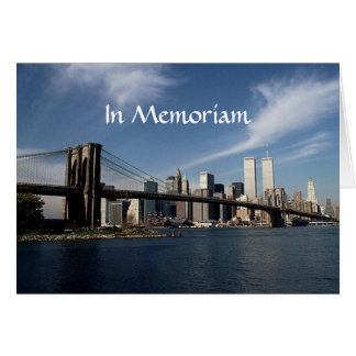 Remember When ~ In Memoriam ~ Twin Towers WTC NYC Card