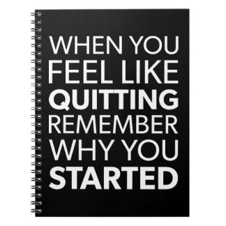 Remember Why You Started - Workout Inspirational Notebooks
