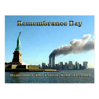 Rememberance Day 911 Sept. 11, 2001 Postcard