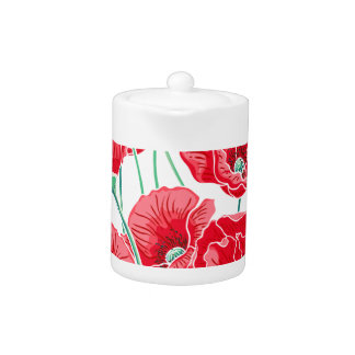 Rememberance red poppy field floral pattern