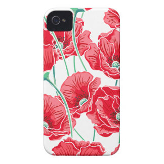 Rememberance red poppy field floral pattern Case-Mate iPhone 4 case