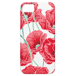 Rememberance red poppy field floral pattern iPhone 5 covers