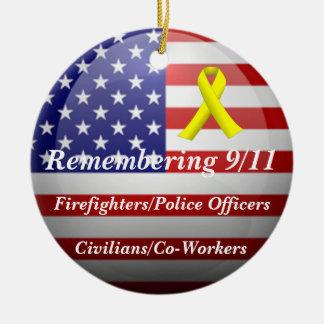 Remembering 9/11 ceramic ornament