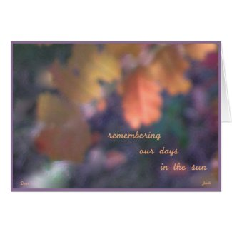 Remembering, an autumn haiga poetry card card