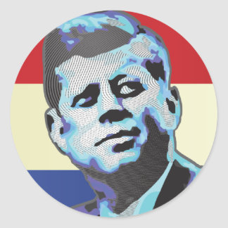 Remembering John F Kennedy Classic Round Sticker