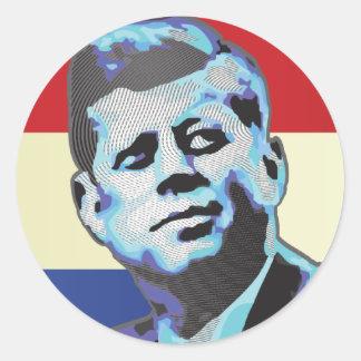 Remembering John F Kennedy Round Sticker