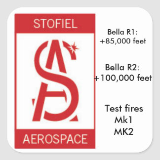 Remembering Stofiel Aerospace's Prototypes Square Sticker