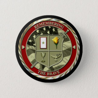 Remembering The Brave pin-on button