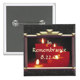 Remembrance Candles & Vines 2 Inch Square Button