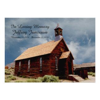 Remembrance Memorial Service Invitation Old Church