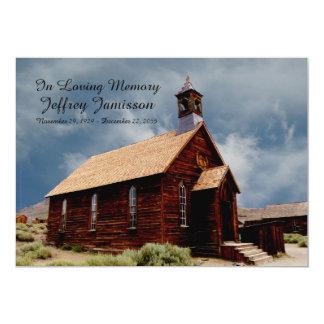 """Remembrance Memorial Service Invitation Old Church 5"""" X 7"""" Invitation Card"""