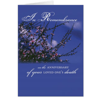 Remembrance on Anniversary of Loved One's Death Card
