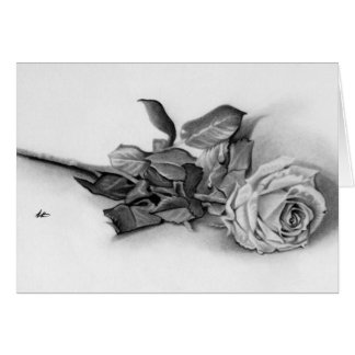 Remembrance Rose Drawing Card