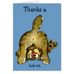 Remercie un carte de remerciements de chat de sort
