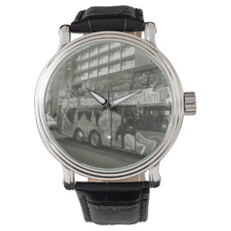 Remind me to take a bus for Amsterdam Wristwatch