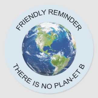 Reminder there is no planet B earth sticker