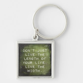 Reminder to Live Silver-Colored Square Keychain