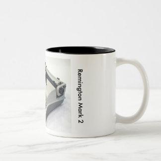 Remington Mark 2 typewriter Two-Tone Coffee Mug