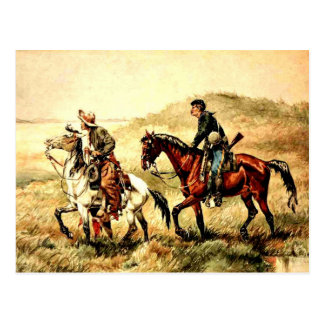 Remington - The Couriers, Frederic Remington art Postcard