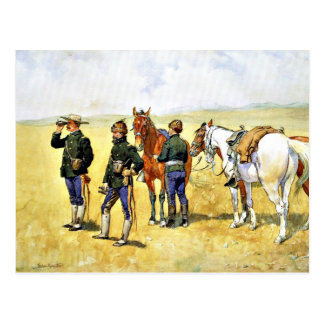 Remington  - The Scouting Party, cowboy art Postcard