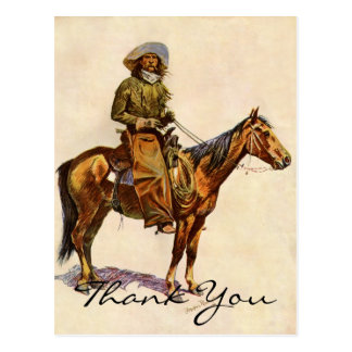 Remington's An Arizona Cowboy Postcard
