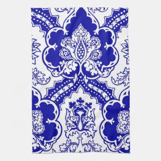 Remixed German Gothic design, in blue Kitchen Towels