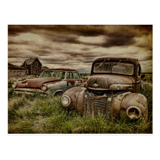 Remnant - Old vintage vehicles Postcard