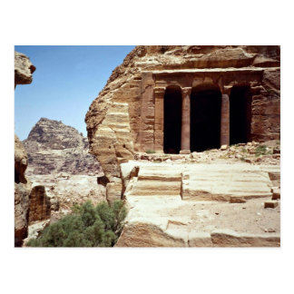 Remnants of the ancient city of Petra, Jordan Postcard