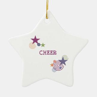 Remous d'acclamation ornement étoile en céramique