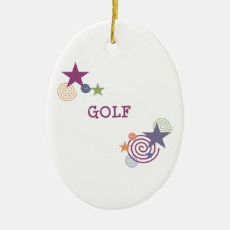 Remous de golf ornement ovale en céramique