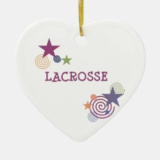 Remous de lacrosse ornement cœur en céramique