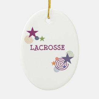 Remous de lacrosse ornement ovale en céramique