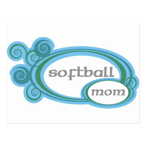 Remous de maman du base-ball carte postale