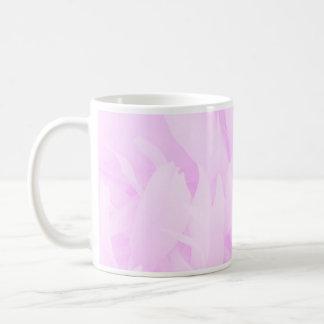 Remous de violette et conception florale tasses
