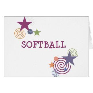 Remous du base-ball cartes de vœux