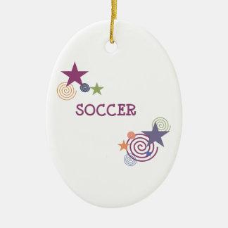 Remous et étoiles du football décoration pour sapin de noël