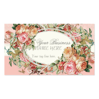 Remous modernes antiques vintages de bouquet flora cartes de visite personnelles