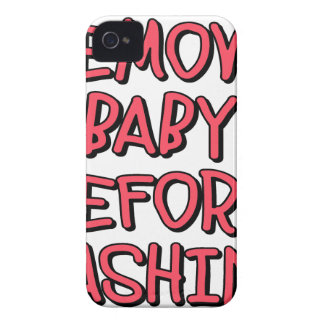 remove baby before washing, funny Case-Mate iPhone 4 cases