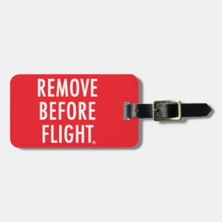 Remove Before Flight, Plane non-operational Flag Luggage Tag