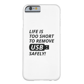 Remove USB Safely Barely There iPhone 6 Case
