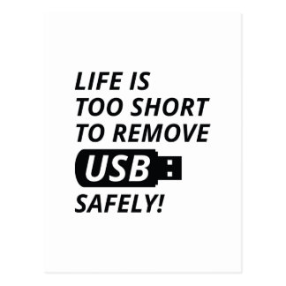 Remove USB Safely Postcard