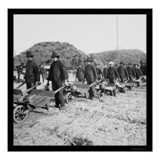 Removing Ammo from Fort McAllister, GA 1864 Poster