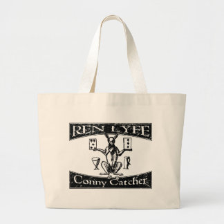Ren Lyfe: Distressed Robert Greene Conny-Catcher Large Tote Bag
