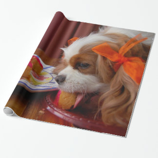 Renae Cavalier King Charles Birthday Wrapping Paper