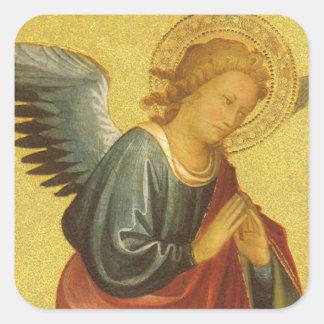 Renaissance Angel by Master of the Bambino Vispo Square Sticker