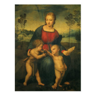 Renaissance Art, Madonna of the Goldfinch, Raphael Postcard