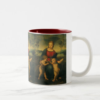 Renaissance Art, Madonna of the Goldfinch, Raphael Two-Tone Coffee Mug