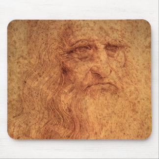Renaissance Art Self Portrait by Leonardo da Vinci Mouse Pad