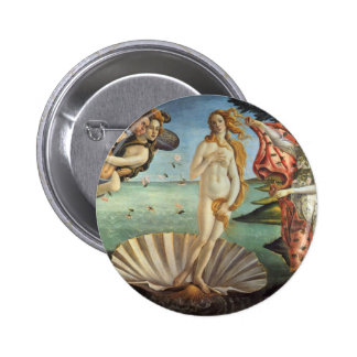 Renaissance Art, The Birth of Venus by Botticelli 2 Inch Round Button