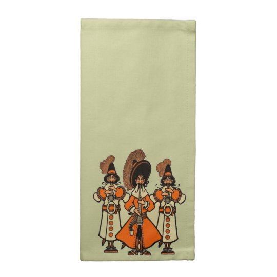 Renaissance Bards Minstrels Cocktail Napkins